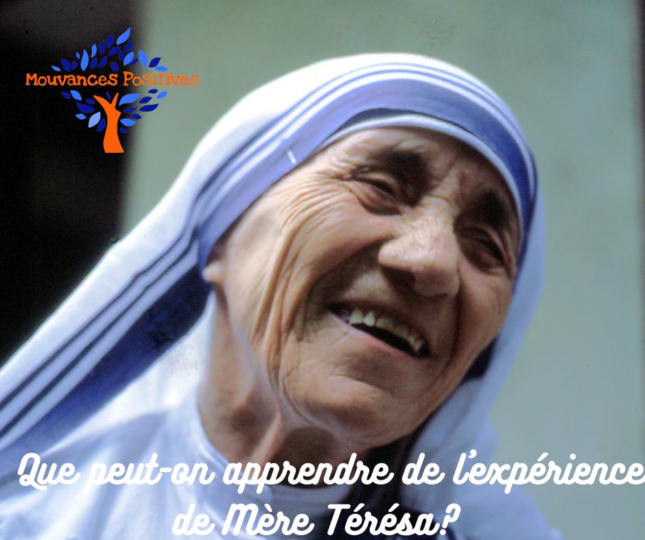 Ce que j'apprends de Mère Térésa
